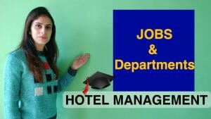 type of hotel jobs and departments