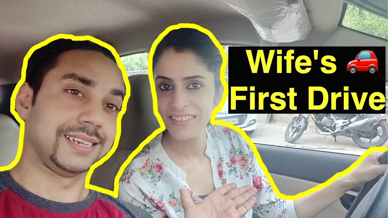 Wife's First Car Drive | Learning to drive a car independently to work