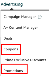 Amazon Advertising - Coupon promotions