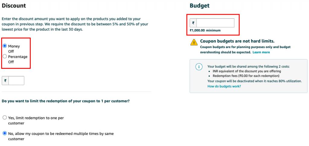 Amazon coupon conditions